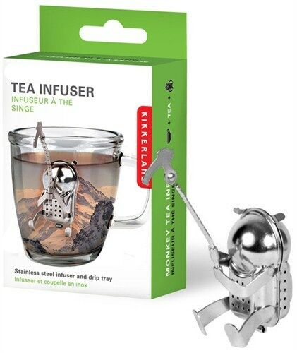 Cliff Climber Tea Infuser Loose Leaf Stainless Steel Steeper Strainer Kikkerland