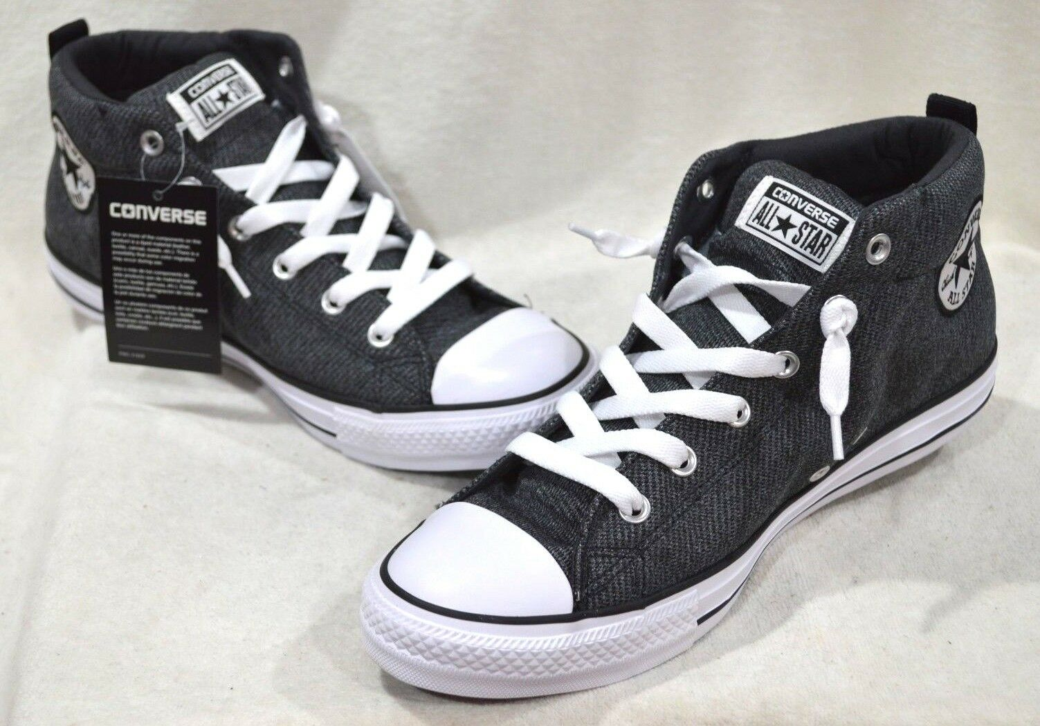 Converse Men's All Star CT Street Mid-Top NWOB Wolf Grey/Black Sneakers-Sz 10/12 NWOB Mid-Top a886a1