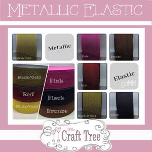 50mm Glitter Elastic With Metallic Thread