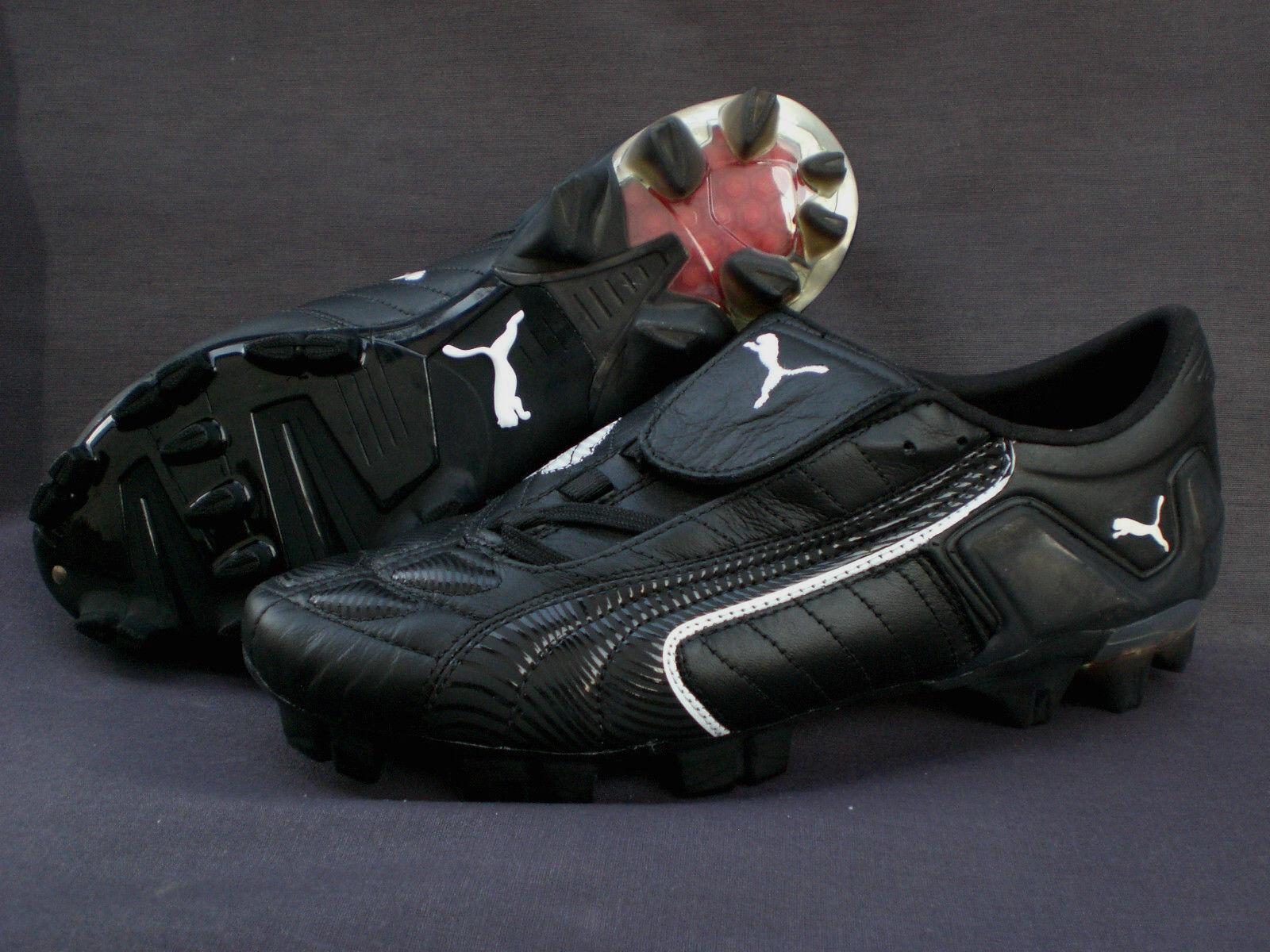 Fussballschuhe Stolen Puma V-Konstrukt 08 GC FG Schwarz Leder Größe  41-46 5 Neu