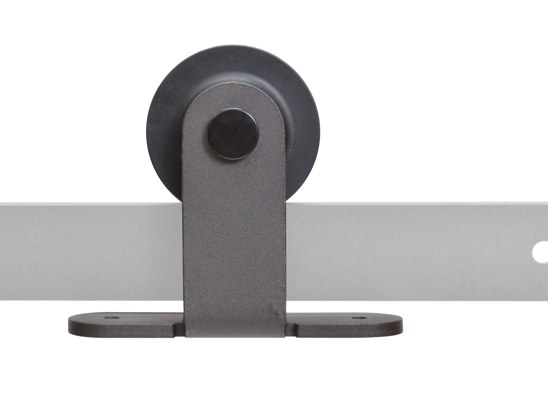 Dark coffee sliding barn wood door roller hardware for Sliding barn door rollers