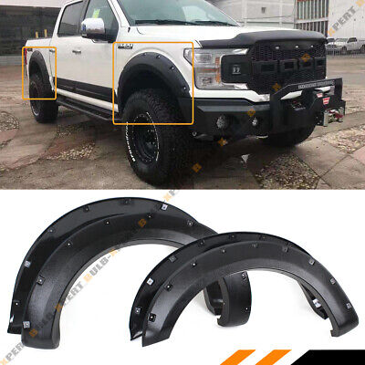 FOR 2018-19 FORD F150 OFFROAD TEXTURED BLACK POCKET STYLE 4PC ...