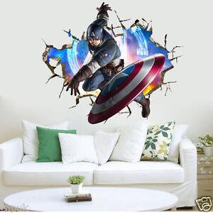 Captain America Marvel Avengers Wall Stickers Kids Room