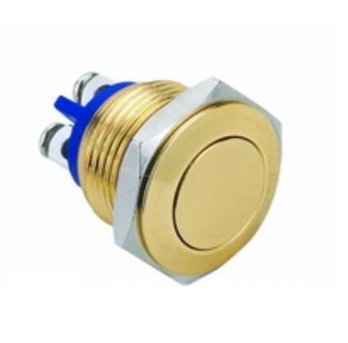 Luxus Klingeltaster vergoldet Klingelknopf Taster 16 mm Klingel Schalter 12V 26V