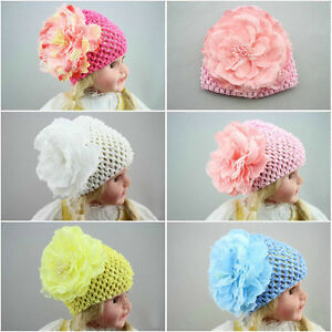 125e5668dfd Image is loading Newborn-Baby-Girls-Toddler-Infant-Flower-Hat-Cap-