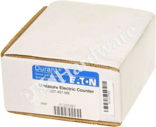 New Eaton Durant 7-Y-41337-407-ME ME Series Counter 7 Digits 240V AC Qty