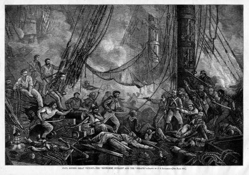 CAPTAIN PAUL JONES NAVAL COMMANDER FLAGSHIP VICTORY BON HOMME RICHARD SERAPIS
