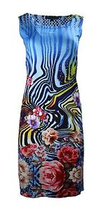 WOMEN-039-S-SUMMER-SLEEVELESS-DRESS-WITH-COLORFUL-FLOWER-PRINT