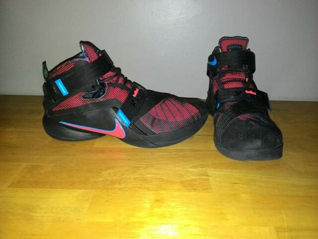 becdaaae17336 2015 NIKE LeBRON JAMES SOLDIER 9 IX Black Multicolor Shoes 749417-084 Size  12.5