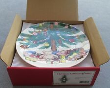 Set of 4, Nikko Happy Holidays / Christmastime Accent Salad Plates New in Box