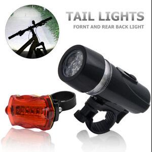 Bicyclette-Nuit-eclairage-5-LED-Kit-Feu-arriere-Avant-phare-lumiere-velo-Lampe