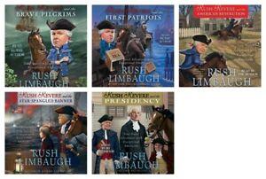 NEW-Rush-Revere-Set-of-5-CDS-Audiobooks-Unabridged-by-Limbaugh-American-History