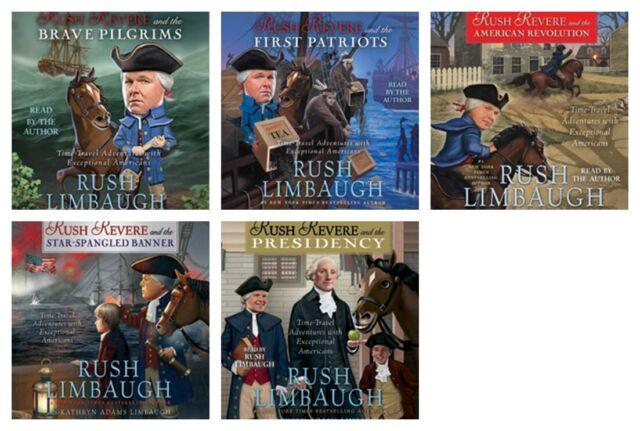 NEW Rush Revere Set of 5 CDS Audiobooks Unabridged by Limbaugh American History