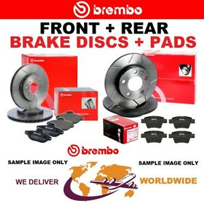 BREMBO FRONT + REAR Axle BRAKE DISCS + brake PADS for BMW 1 (E81) 123d 2007-2012