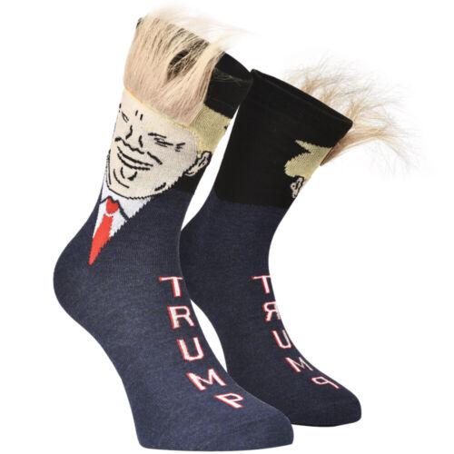 Trump tube stockings blue faint hair //yellow hair socks cute cartoon women socks