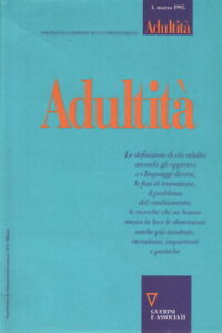 Adultità N. 1, Marzo 1995 - AA.VV. (Guerini e associati)