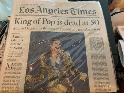 Michael Jackson Death Complete Newspaper LA Times 6-26-09 SEALED BRAND NEW