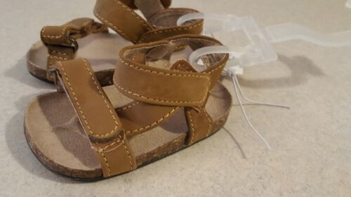 Old Navy Infant Boys Sandals 0-3 MONTHS Faux Leather TAN Brown #3211117