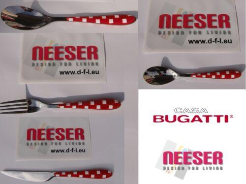 Casa BUGATTI couverts quadri table couverts couteau fourchette cuillère à soupe cuillère à café rouge