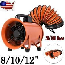 81012 In Industrial Extractor Fan Blower Withduct Hose Garage Electrical Utility