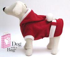 Santa Claus Christmas Coat Yorkie Chihuahua Dog Clothes Costumes Gift X-Small