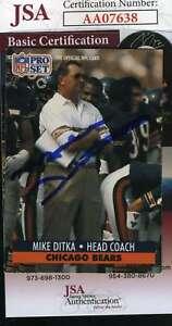 Mike-Ditka-1991-Pro-Set-Jsa-Coa-Autograph-Authentic-Hand-Signed