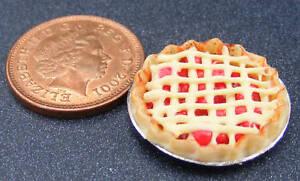 1-12-Scale-Mixed-Fruit-Lattice-Pie-2-2cm-Tumdee-Dolls-House-Kitchen-Dessert-D12