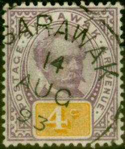 Sarawak-1888-4c-Purple-amp-Yellow-SG11-Fine-Used-2