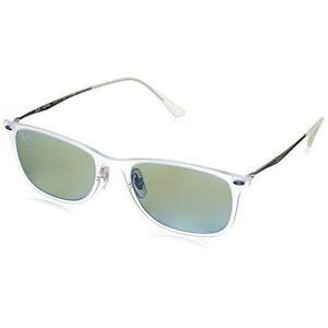 2b6cfe4c8f7ba Ray-Ban Transparent Wayfarer Light Ray Green Mirror Mens Sunglasses -  0rb4225 646 3r 52
