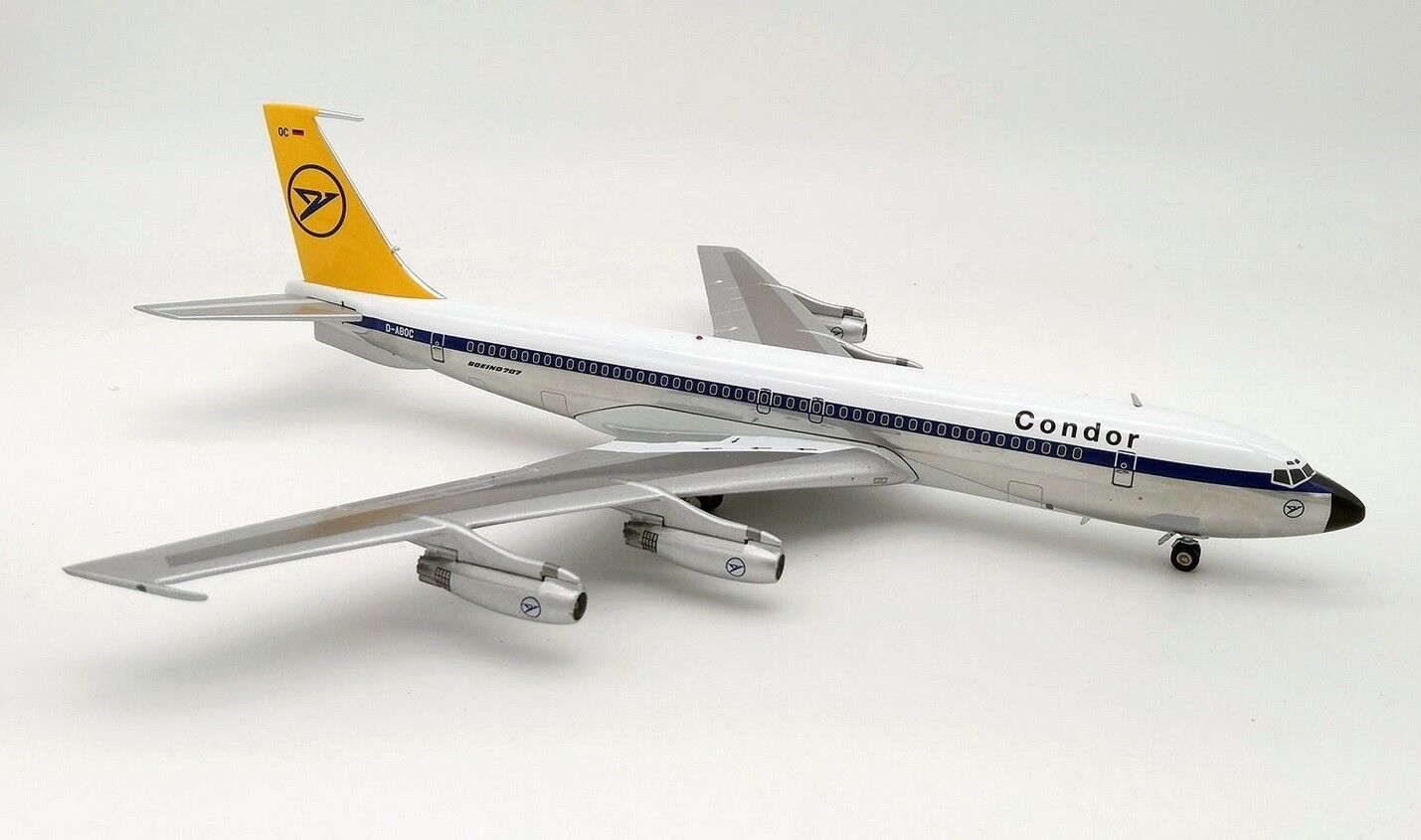 INFLIGHT 200 WB704DE001P 1 200 CONDOR BOEING 707-430 D-ABOC POLISHED WITH STAND