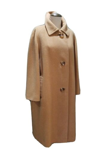 (M) Vintage 1960s Womens 100% Camel Hair Coat A TR