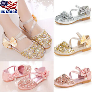 ed26e2353fccff Image is loading Kids-Girls-Glitter-Wedding-Party-Buckle-Princess-Sandals-