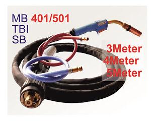 Schweißgerät Schlauchpaket MB 15 TBI 150 Güde 4 m