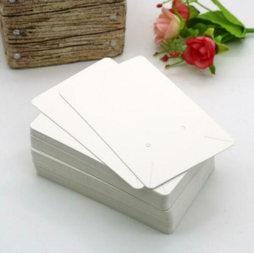50PCS Jewelry Display Paper Cards Necklace Jewelry Bracelet Hanging Holder Craft