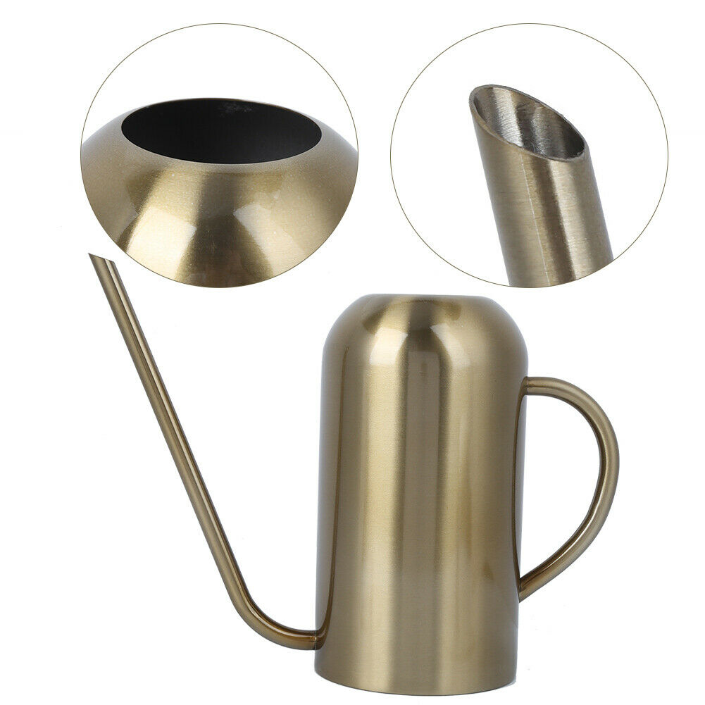 Stainless Steel Long Spout Watering Can Garden Watering Pot Irrigation Tool G Nc