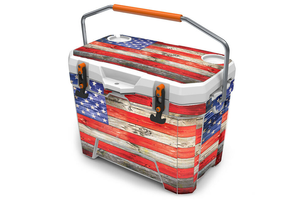 USATuff Cooler Wrap'Passar New Mold'Ozark Trail 26qt FUL USA Flag Wood Färg