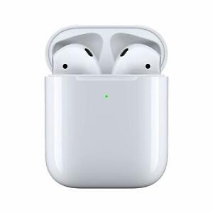 NEW Ap ple AirPods Ge neration 2 with Wireless Charging Case MRXJ2AM//A White