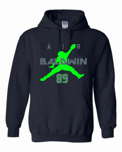 "Doug Baldwin Seattle Seahawks /""Air Baldwin/""  Hooded SWEATSHIRT HOODIE"