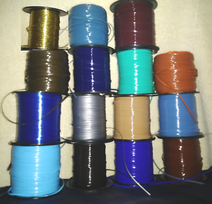 15 Blues Browns Metals ~ 5 YDs Each ~ 75 Rexlace Boondoggle Gimp Plastic Lace