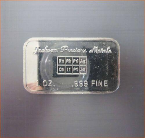 RARE 1 Oz .999 Silver JACKSON PRECIOUS METALS MIRROR FACIAL PIONEER MINT 3102