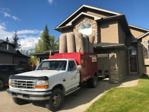 Ford F-350 furnace duct cleaning truck 7.3 diesel