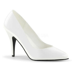 PLEASER-VANITY-420-WHITE-PATENT-STILETTO-HEEL-COURT-SHOES