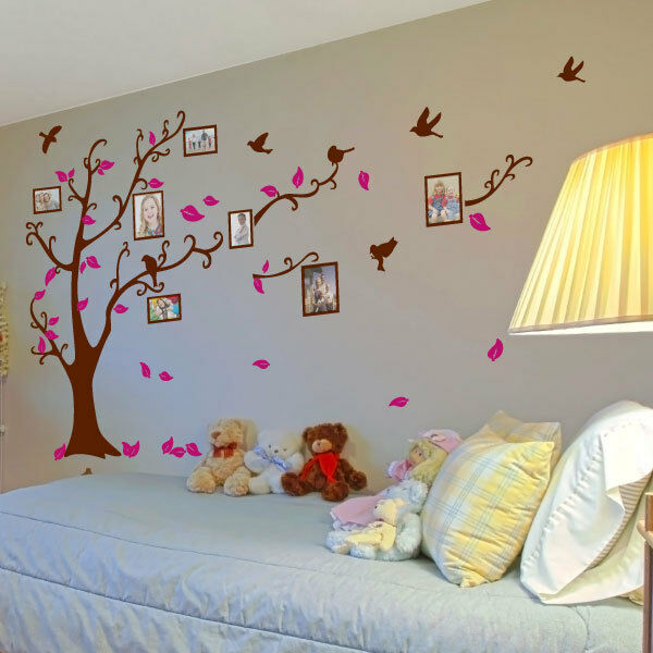 Family Tree Bird Photo Frame Wall Quotes, Wall Stickers, Wall Art, Wall Decals