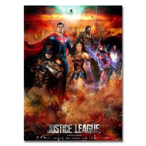 "Justice League 2017 DC Comics USA Hero Movie Art Silk Poster 13x18/'/' 16x22/"" J016"
