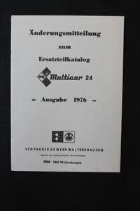 Anderungsmitteilung-para-Catalogo-de-Piezas-Repuesto-Multicar-M24-Edicion-1976