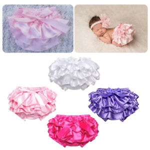 Infant Baby Girl Solid Panties Bottoms Toddler Kids Bloomer Diaper Cover Briefs