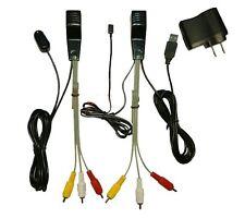 Mini AV video audio extender& IR Repeater Sender transmitter Via Cat 5/6e New