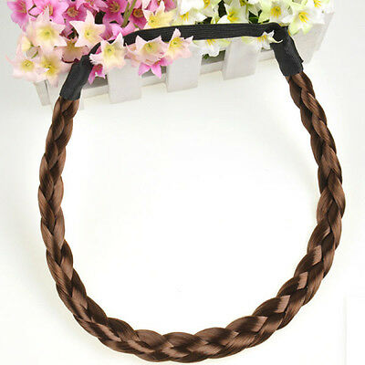 Korean Style Women Headband Braided Plaited Elastic Boho Hair Hoop Hairband New