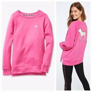 f933ee027cb1a Details about Vs Victorias Secret Pink Legging Crew Sweater Jacket Top Pink  Gumball XL