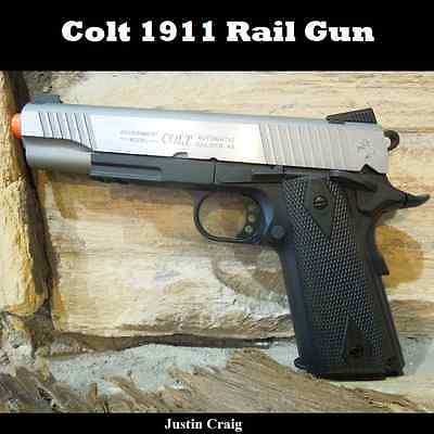 Colt Rail Gun Full Metal 1911 CO2 Gas Airsoft Hand Gun Pistol WITH FREE  SHIPPING 761835431154 | eBay